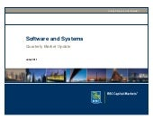 Software and Systems Quarterly Mark...
