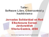 Software Libre, Cibercontrol y hack...