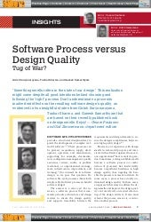 Software process versus design quality   a tug of war - ieee software july 2015
