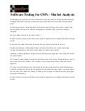 Software testing for cs ps   market analysis