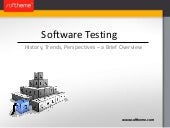 Software Testing: History, Trends, ...