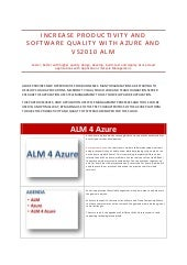 Talk Through Sogeti ALM 4 Azure