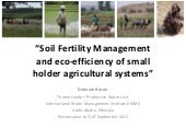 Soil Fertility Management and eco-e...