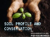Soil profile and conservation