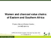 Women and charcoal value chains of Eastern and Southern Africa