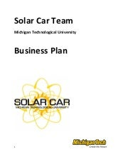 Solar car business plan