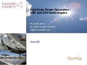 Bulk Solar Power Generation :CSP an...