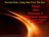 Solar Sun Flames Thermal Solar 1