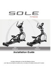 Sole E35 Elliptical Trainer Install...