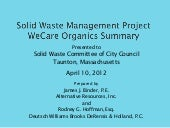 Solid waste management project weca...