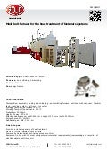 Mesh belt furnace for the heat treatment of fastener systems