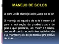 Solo -  manejo do solo