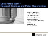 Solomon ppt Does parole work resear...