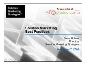 Solution Marketing Best Practices (...