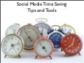 Social Media time saving tips & tools. milena regos