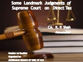 Some landmark judgements of supreme...