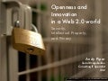 Openness and Innovation in a Web 2.0 world