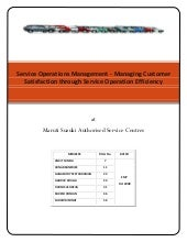 Service Operation Management_Maruti