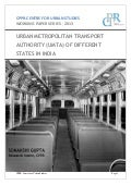 Data Compilation on Urban Metropolitan Transport Authority (UMTA) of Different States in India