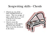 Song writing skills Chords