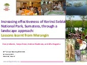 Increasing effectiveness of Kerinci Seblat National Park, Sumatera, through a landscape approach: lessons learnt from Merangin