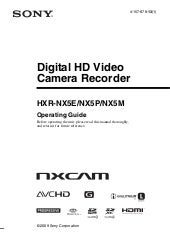 Sony HXR-NX5E Operation Manual