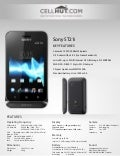 Sony st21 unlocked android 4.0 gsm cell phone