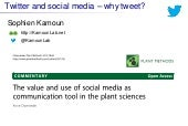 Twitter and social media – why tweet? A 5 min presentation for skeptical scientists