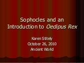 Sophocles and an introduction to oe...