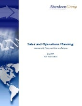 Sales and Operations Planning: Inte...