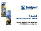 Juniper MPLS Tutorial by Soricelli