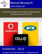 South africa mobile service market