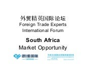 South African Market Overview for Chinese Investors 2014