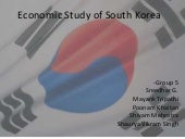 Economic Study of South Korea