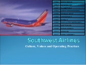 Southwest airlines culture, values ...