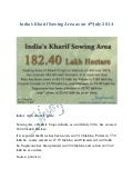 India's Agriculture Update: India's Kharif Sowing Area as on 4th July 2014