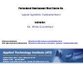 Space Systems Fundamentals