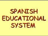 Spanish Educational System