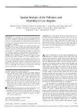 Spatial Analysis Of Air Pollution A...