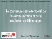 Le continuum spatio-temporel de la ...