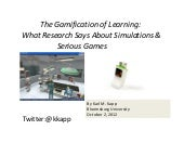 The Gamification of Learning:  What...