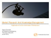 Market Research and Knowledge Management
