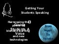Technology to practice speaking English