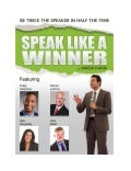 Speak like a winner public speaking system