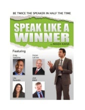Speak like a winner public speaking...