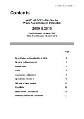 WJEC AS/2 Film Studies Specification