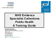 Specialist collections public health user manual