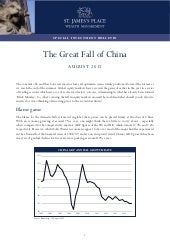 The Great Fall in China August 2015 - Special market bulletin St. James's Place
