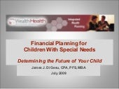 Financial Planning for Your Special...