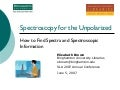 Spectroscopy Sources 6 1  07